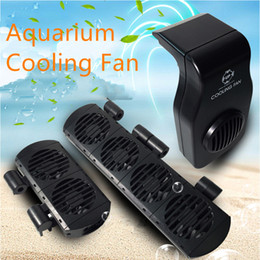 DC12V 1 2 4 Row Aquarium Cooling Fan Chiller Cooling System Adjustable Type Marine Fish Tank Chiller Cooler Temperature Control