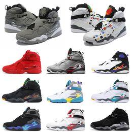 Quai 54 men basketball shoes 8 8s Valentines day Aqua SOUTH BEACH Chrome Reflective Bugs Bunny RAID PLAYOFF mens trainer Sports Sneaker 7-13