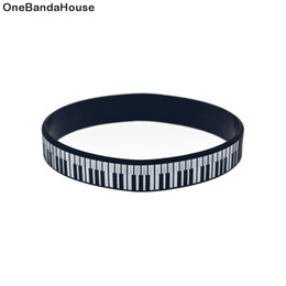 Wholesale 100PCS Lot Piano Key Silicone Bracelet Wristband Great To Used In Any Benefits Gift For Music Fans
