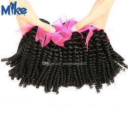 MikeHAIR Mongolian Kinky Curly Hair Weaves 4 Bundles Cambodian Brazilian Remy Human Hair Extensions Factory 100% Human Hair Weaves for women