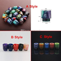 Newest 810 Epoxy Resin Drip Tip Colorful Resin Wide Bore Drip Tips for TFV8 TFV12 Atomizers Tank Kennedy 24 RDA RBA Mods