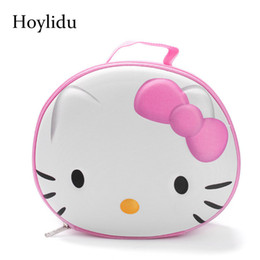 3D Cute Hello Kitty Women Cosmetic Bags for Makeup Bag Ladies Large  Capacity Travel Make Up Box Toiletry Bag Organizer Pouches Y181122 715846bb25