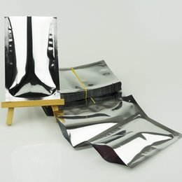 26*40cm 100pcs silver aluminum foil flat bag, facial mask packing bags dustproof package heat seal, mylar plating towel packaging sachet