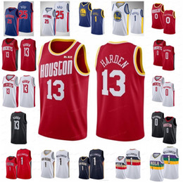 NCAA Russell 0 westbrook Jerseys James 13 Harden Derrick 25 Rose Zion 1 Williamson DAngelo 1 Russell Mens University 2019 City Basketball