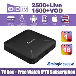 TX3 Mini Android 7.1 TV Box With Europe Arabic IPTV subscription 2GB 16GB S905W Quad Core 4K H.265 WiFi IPTV Box