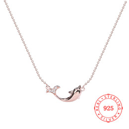 Lovely dolphin pendant necklace design real 925 sterling silver pendant for lady guangzhou high quality fish jewelry wholesale