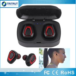 A7 TWS Mini Wireless Bluetooth Headphones Stereo Headset True HIFI Sport Earbuds In Ear Earphones For Cell iPhone Android PK X2T I7S Retail