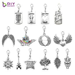 Fashion 20PCS mix style dangles necklace pendants with Lobster clasp LSFE03-17