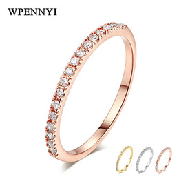 Romantic Exquisite Woman Knuckle Ring Tiny Zirconia Crystal Micro Paved Thin Rose   White   Gold Three Tone Color Christmas Gift