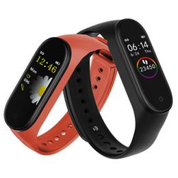 M4 Smart Band Fitness Tracker Watch Sport bracelet Heart Rate Smart Watch Fitbit 0.96 inch Smartband Monitor Health Wristband PK mi Band 4