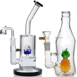 Pineapple Glass Bong Dab Rig Water Pipes Bongs 5mm Thick cute animal honeycomb perc pipe bowl quartz banger oil rigs heady elephant octopus