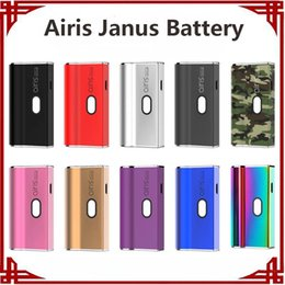 100% Original Airis Janus 2in1 Vape Battery 650mah VV Battery for 510 Thick Oil Cartridge E cigarette Vape Pen Vaporizer Battery