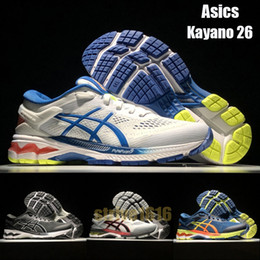 Asics Kayano 26 Men Running Shoes Designer Sneakers Trainers New Arrivals Breathable Outdoor Sports Shoes Size 40-45
