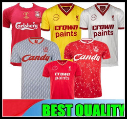 04 05 Retro Soccer Jersey Final Istanbul Gerrard 2005 Smicer Alonso Hamann Champion Football Shirts Vintage 1989 91 Maillot 1985 86 Salah