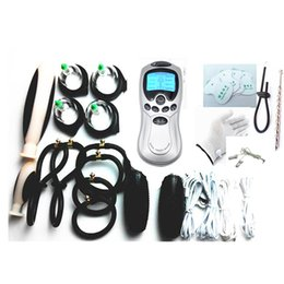 9-in-1 BDSM Electric Shock Sex Toys for Couples Therapy Massager Bondage Gear Nipple Clips Penis Anal Vaginal Plug Stimulation E-stim Gloves