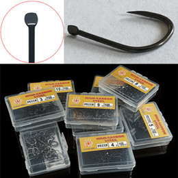 800pcs 8box Black Ise Hook High Carbon Steel Without Hole Barbless Hooks Fishing Hooks Fishhooks 3#-10#