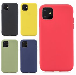 Slim Matte Soft TPU Case For Iphone 11 5.8 6.1 6.5 inch 2019 New Samsung Galaxy Note 10 Pro Plus Ultra Thin Plain Luxury Phone Cover Coque