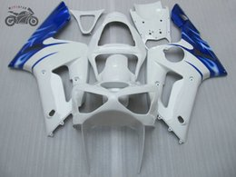 Customize Chinese Fairing kit for Kawasaki ZX 6R 636 Ninja 03 04 ZX-6R ZX636 2003 2004 ZX6R blue white road racing motorcycle fairings