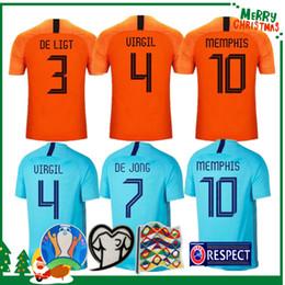 2019 2020 Netherlands soccer jerseys DE JONG Holland football shirt DE LIGT VAN DIJK VIRGIL jersey STROOTMAN MEMPHIS PROMES football