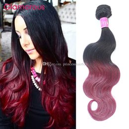 Glamorous Straight Body Wave Virgin Human Hair 4Pcs Ombre Brazilian Hair Weaves Peruvian Indian Malaysian Burgundy Ombre Hair Extensions