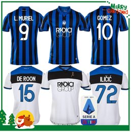 Atalanta BC 19 20 Home soccer jersey 2019 2020 L.MURIEL GOSENS DE ROOM ILICIC COMEZ MANCINI DUVAN football shirts uniforms