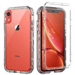 For Iphone Xr Case Clear Full Body Protection Soft TPU Hard PC Protective Case For Iphone Xs Max Samsung Galaxy Note 10 Pro