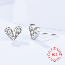 2019 new design Love heart jewellery 925 sterling silver stud earrings High quality China silver jewelry