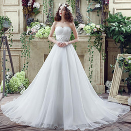 Popular Ball Gown Wedding Dresses Cheap Real Photo Sweetheart Pleats Beaded Organza Bridal Gowns In Stock Wedding Gowns