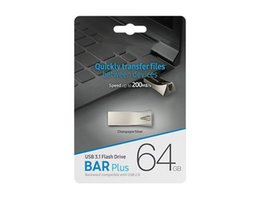 2019 Hot Selling Bar Plus USB 2.0 32GB 64GB 128GB Flash Drive Memory PenDrive U Disk in Retail Package DHL Shipping 1 Day Dispatch