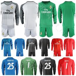 19 20 1 Alphonse Areola Goalkeeper Goalie Long Real Madrid Soccer Jersey 1 Keylor Navas 13 Thibaut Courtois Iker Casillas Football Kits