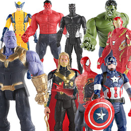 12 inches Avengers Action Figures Toys Super hero iron Man Movable Decoration children Model toy gift 11 styles C6586