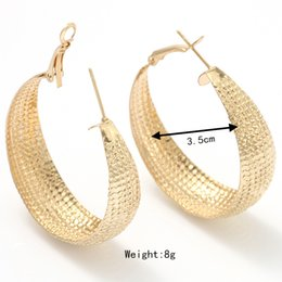 GULICX Brand Luxury Party Large Hoop Earings 18k Gold Plated Big Hoop Earring for Women Circle Earrings Jewelry for Wedding E412