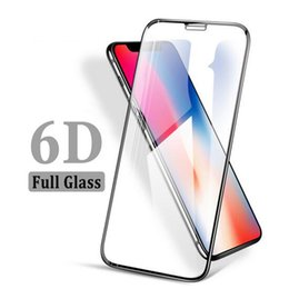 6D Curved Screen Protector for iPhone X 6 6plus 7 7plus Tempered Glass Full Cover Protective Glass on the for iPhone 7 Glass