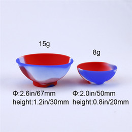 Bowl Shape Silicone Container Food Grade Big Rubber Non-stick Jars Dab Tool Storage Oil Holder 67mm*30mm Large Wax Container Vaporizer Vape