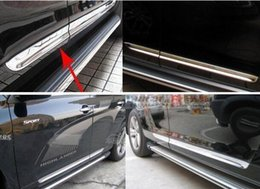 High quality stainless steel 4pcs car door body protection strip,decoration bar for Toyota Highlander 2007-2011