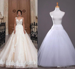 2019 In Stock A-line Petticoat Cheap Bridal Accessories Bridal Slip for Wedding Dresses Bridal Underskirt CPA212