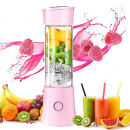 480ml BPA Free Portable Juicer Maker Bottle Cup USB Rechargeable Smoothie Blender Mixer with 6 SUS 304 Leaf Blades