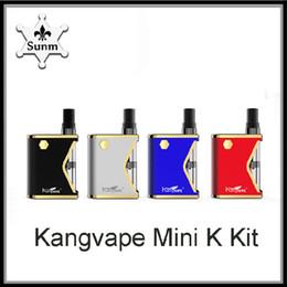 Authentic Kangvape Mini K Box Starter Kit 400mAh Battery Vaporizer Vape Mod For 510 Thread 0.5ml Ceramic Cartridge Atomizer DHL