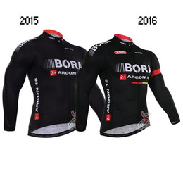WINTER FLEECE THERMAL ONLY CYCLING JACKETS CLOTHING LONG JERSEY ROPA CICLISMO 2015 2016 BORA - ARGON 18 PRO TEAM BLACK SIZE:XS-4XL B42