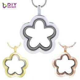 Silver  Gold  Rose gold Flower glass floating charm locket Zinc Alloy (chains included for free) LSFL010