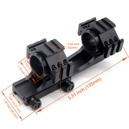 Tactical Double Scope Rings Dual Ring Cantilever Mount Picatinny Weaver Scope Rail Mount with QD Cam Locks Adapter