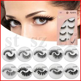 3D Mink Eyelashes Individual Eyelash Extensions Fake Lashes Eye lash False Mink Eye Lash 4 Pairs set Package Boxes