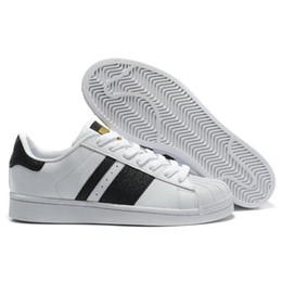 2019 Cheap Wholesale Superstar Men's & Women's 2016 Foundation Casual Sneaker Shoes Classic GOLD black White FREE SHIPPING Eur size 36-44