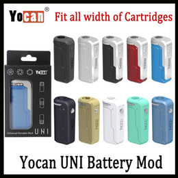 Yocan UNI Box Mod 650mAh 10s Preheat VV Variable Volta Adjustable Height and Diameter Holder Fit All Atomizer 10 Colors In Stock!!!