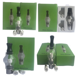 Happywater Glass globe atomizer kit Wax dry herb vaporizer e cigarettes kit single cotton coil bulb atomizer fit ego battery in stock