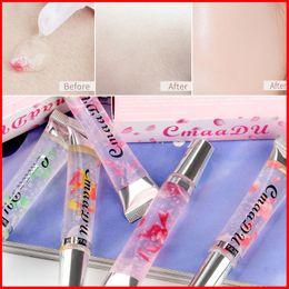 CmaaDu Face Natural Flower Makeup Primer Transparent Cream Shrink Pore Perfect Primer Oil Control Brighten Skin Makeup Base 5 Styles