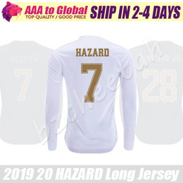 2020 Long sleeve Madrid jersey Camiseta de futbol Home HAZARD SERGIO RAMOS CASEMIRO Soccer Jerseys long sleeve football shirts