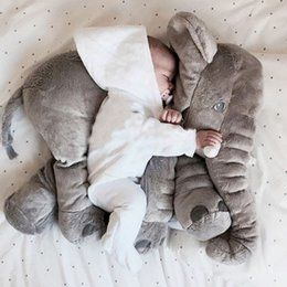 30CM 60CM Elephant Pillow Plush Toy baby stuffed animals grey doll children sleep birthday gift INS Lumbar Long Nose Elephant Doll Soft Xmas