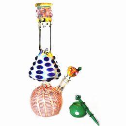 Glass Breaker Bong Water Pipes Bongs Dab Rig colorful Mushroom smoking pipe with downstem bowl Heady Hitman pink Oil Rigs Hookahs