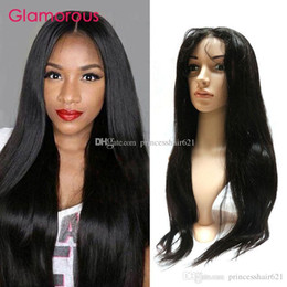 Glamorous Malaysian Virgin Human Hair Wigs Lace Front Wig 10-30Inches Peruvian Brazilian Indian Straight Hair Full Lace Wigs with Baby Hair